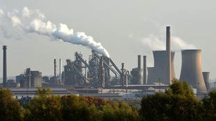 The Tata Steel plant in Scunthorpe, after the firm announced it will axe 1,200 jobs