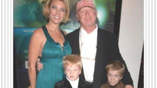 Tony Scott with his family