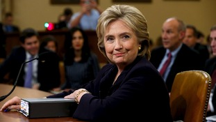 Hillary Clinton testifying before the House Select Committee on Benghazi