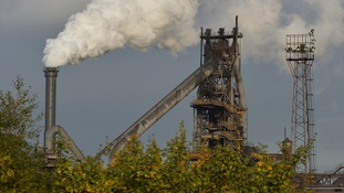 The Tata steel plant in Scunthorpe.
