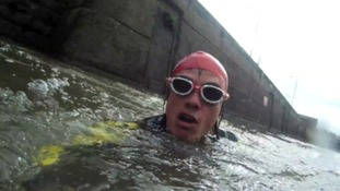 Kevin Brady has been swimming every day for the last month and will finish at Severn beach this afternoon