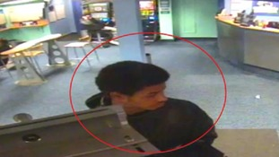 One of the men that police think could have information after a betting shop robbery in Bedfordshire