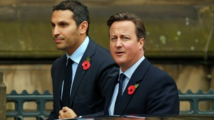 Manchester City's chairman Khaldoon Al Mubarak joined the president and PM for a lunch at the city's town hall.