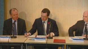 George Osborne signing the deal this afternoon
