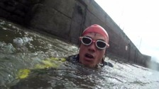 Kevin is expected to finish his adventure at Severn Beach this evening.