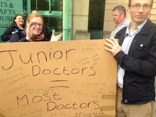 Junior doctors are marching in Newcastle in protest against proposed changes to their contracts