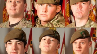Final tribute to six soldiers killed in Afghanistan
