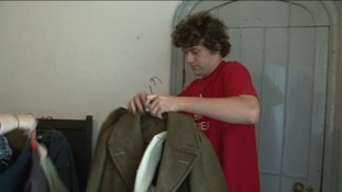 Robert Naylor organising clothing
