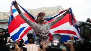 Lewis Hamilton won his third world title in America on Sunday.