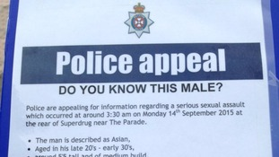 Police in Swindon are hunting sex attacker