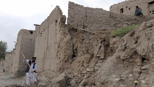collapsed home near Jalalabad