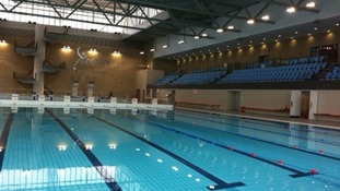 The swimming and diving pool