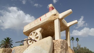 Monument to Mohammed Bouazizi's humble cart stands as a symbol of hope