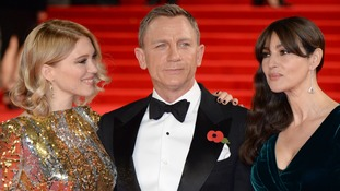 Lea Seydoux, Daniel Craig and Monica Bellucci at the World Premiere of Spectre