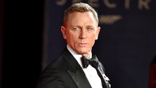 Bond actor Daniel Craig at the premiere in a classic black tuxedo