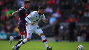 Jake Forster-Caskey in action for MK Dons.