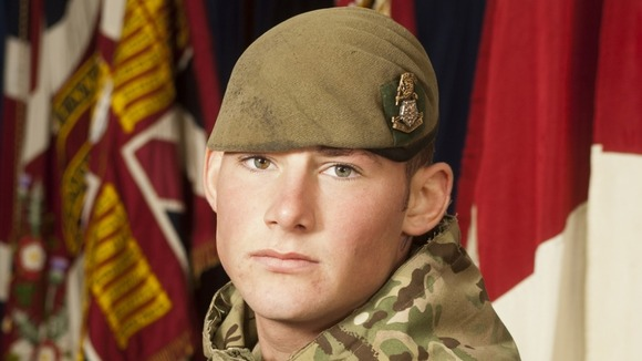 Corporal Jake Hartley, 20, of 3rd Battalion The Yorkshire Regiment