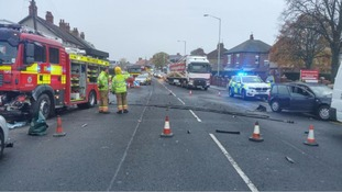 Fire engine crashes on emergency call in Darlington
