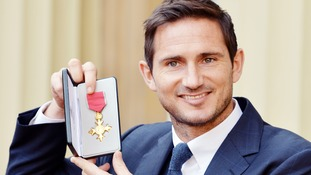Former Chelsea star Frank Lampard receives OBE for services to football
