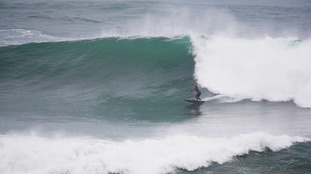 Near perfect big wave conditions at The Cribbar