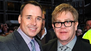 Sir Elton John and partner David Furnish