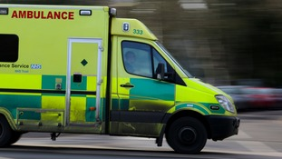 Ambulance windscreen smashed by vandals on the way to collect patient