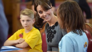The Duchess of Cambridge chats to children from Chance UK's early intervention programme.