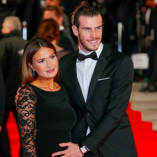 Gareth Bale and pregnant girlfriend Emma Rhys-Jones
