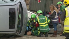 The training operation saw services tackle the real-life emergency situation as it unfolded in real time