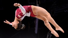 Claudia Fragapane in action at last year's Commonwealth games