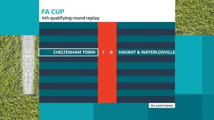 Cheltenham Town will face League Two side Hartlepool in the next round
