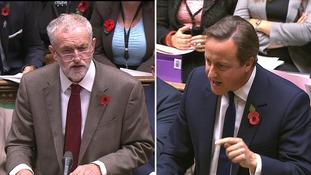 Jeremy Corbyn and David Cameron clashed over tax credits.