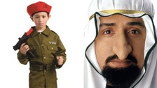 'Israeli soldier costume for kids' and 'Sheikh Fagin nose' Hallowen costumes have caused an outcry on social media