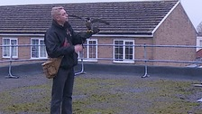 A handler and his hawk.