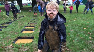 Picture gallery: Kids make the most of wet weather at World Puddle Jumping Championships