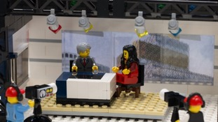 The ITV News Central studio is brought to life in Lego form