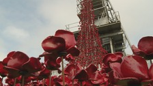 The Weeping Window sculpture is on display at Woodhorn Museum in Northumberland