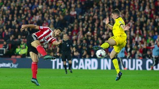 Graziano Pelle scored the second of Southampton's two goals