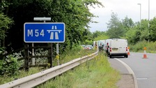 The remains were found at the side of the M54