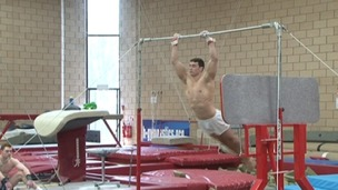 Kristian Thomas training for the Olympics last month