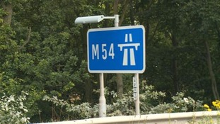 An unidentified male's human remains were found near the M54 near Telford