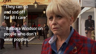 Barbara Windsor: Anyone who doesn't wear a poppy can 'sod off'