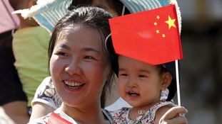 Mother and child in Beijing