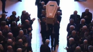 Kendall given standing ovation at beginning of funeral in Liverpool Anglican Cathedral