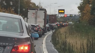 The broken down vehicle caused huge tailbacks