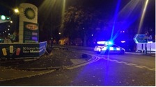 The crash happened on the outskirts of Birmingham last night