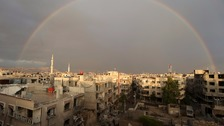 Devastation in Damascus, Syria, as the civil war continues