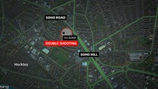 Two men were shot in the early hours of the morning