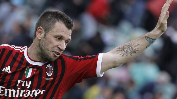 Antonio Cassano of AC Milan is a target for city rivals Inter.