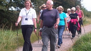 Nordic walking instructor qualifies at 71